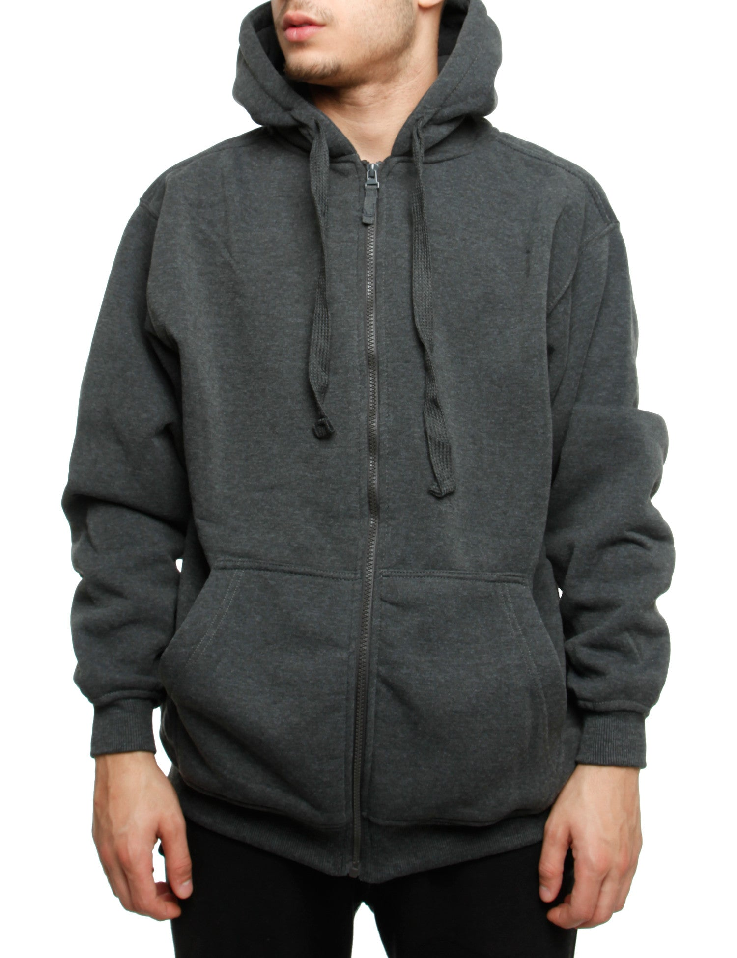 Royal Blue Zip Hoody 4162 Charcoal Grey