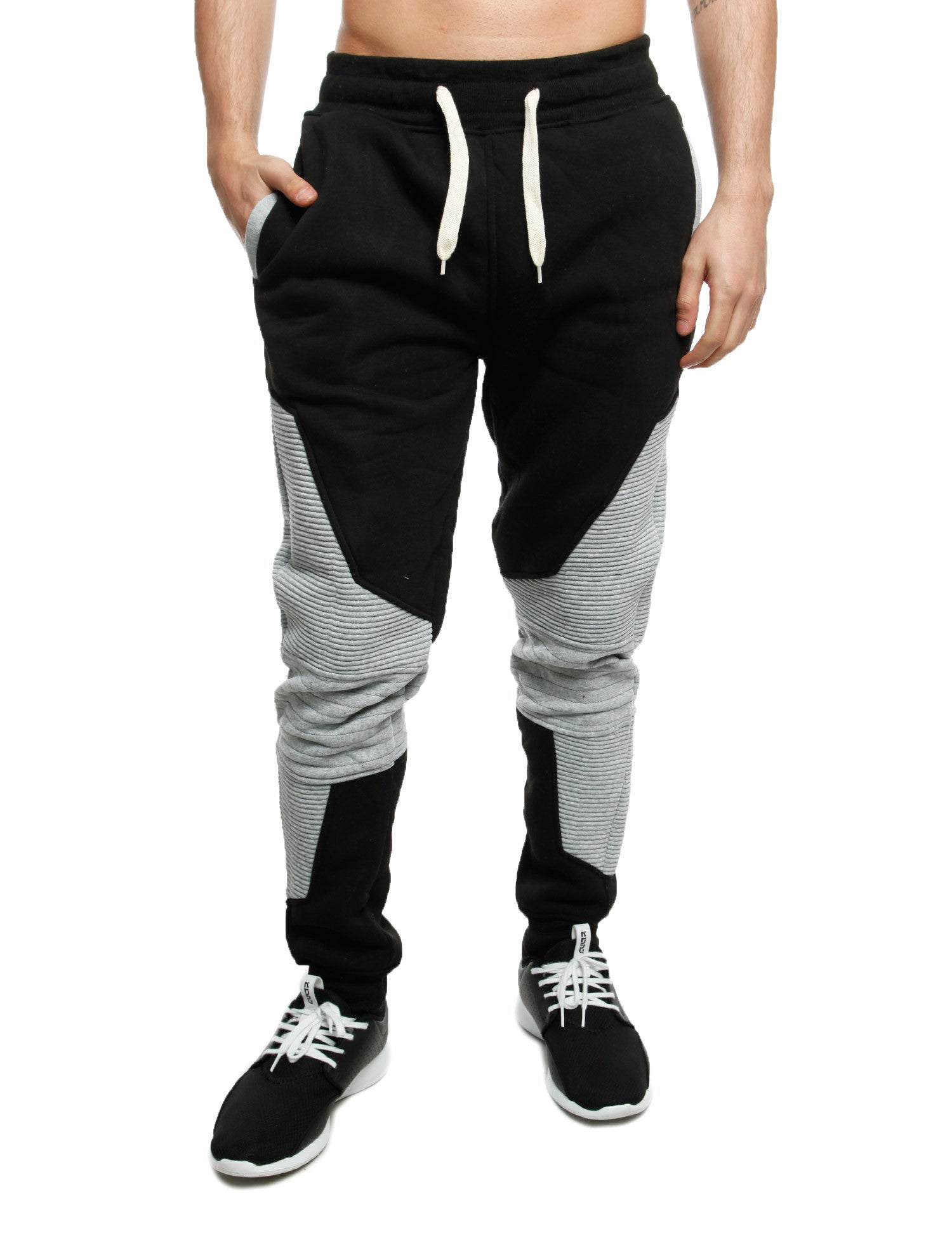 Imperious 2 Tone Piping Sweatpant FP517 H.  Grey