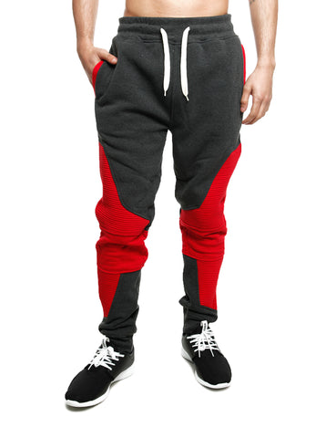 Imperious 2 Tone Piping Sweatpant FP517 Red