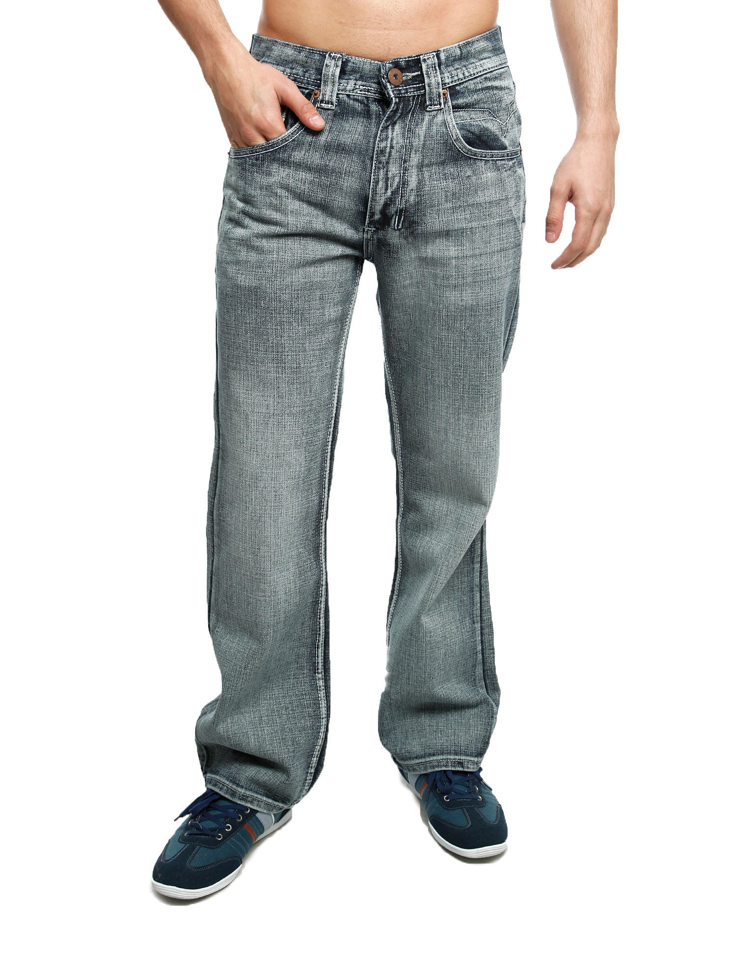 Royal Blue Basic Straight Denim 8208 Ash. Blue