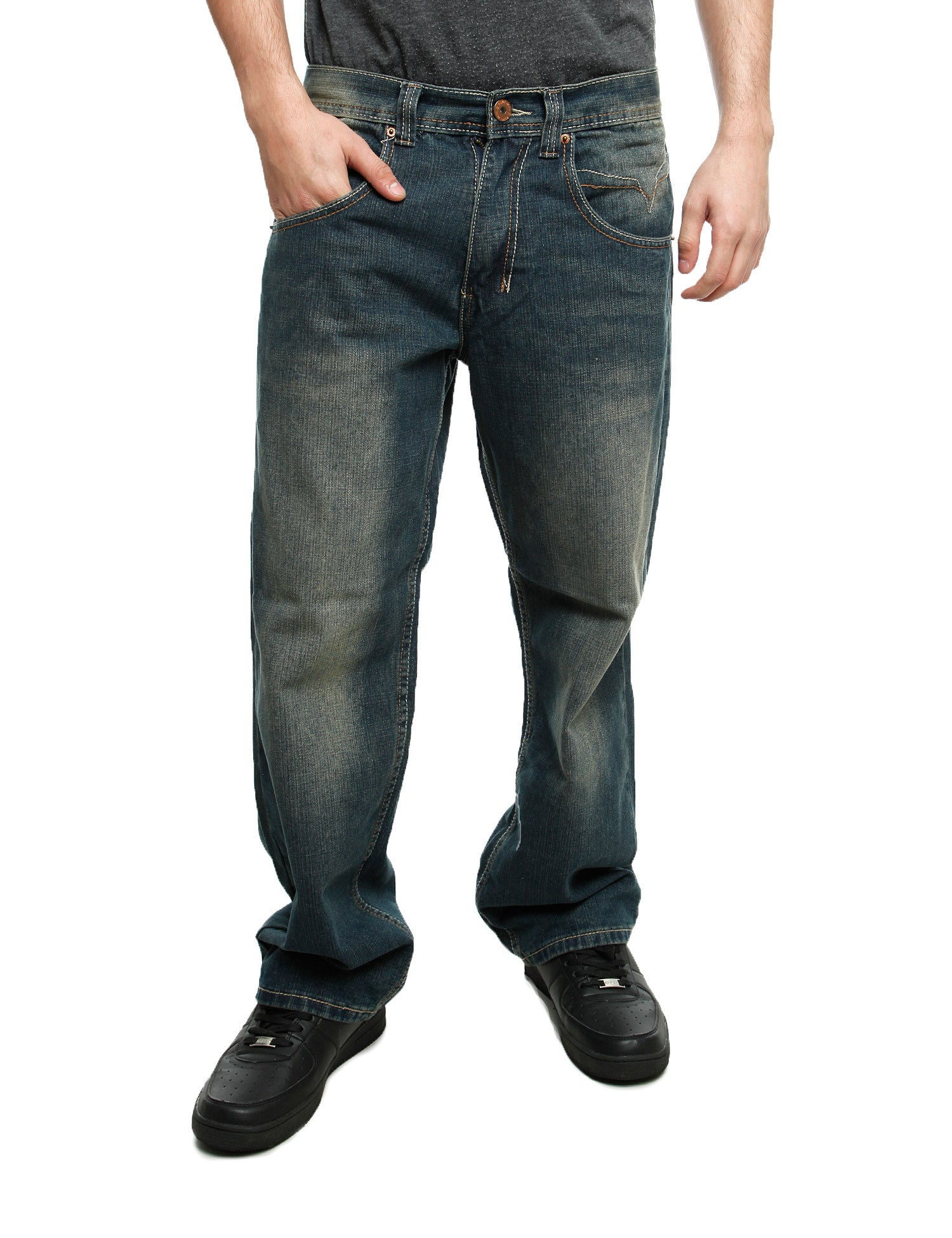Royal Blue Jeans 8207 Rust Blue