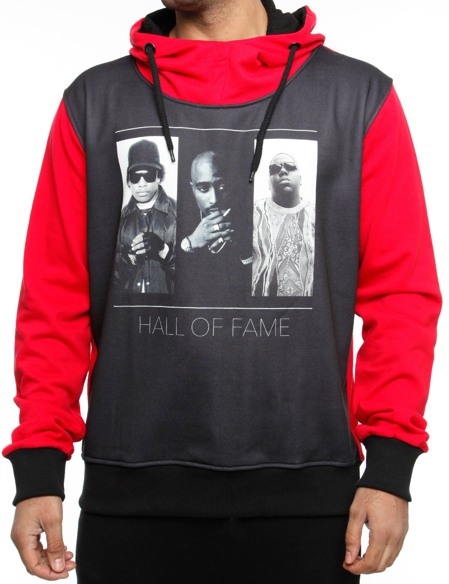 Eksi Hoody HALL OF FAME Black Red