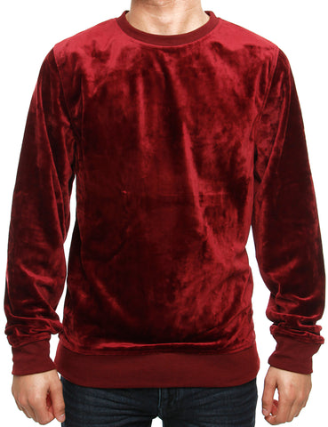 Akademiks VELOUR Crewneck A35LK39 Ruby Red