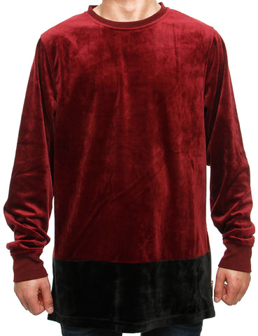 Akademiks ALL NIGHT Crewneck A35LK57 Ruby Red