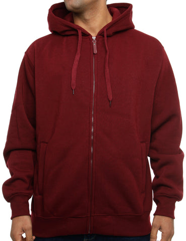 Imperious Fleece Hoody 10221A Burgundy Red