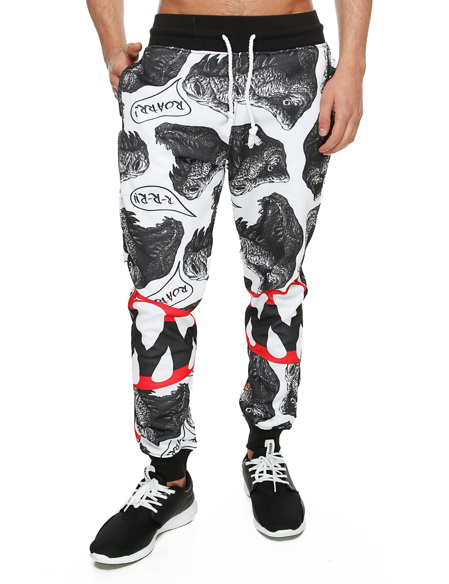 Imperious ´Dinosaur´ All Over Sweatpant FP530 White