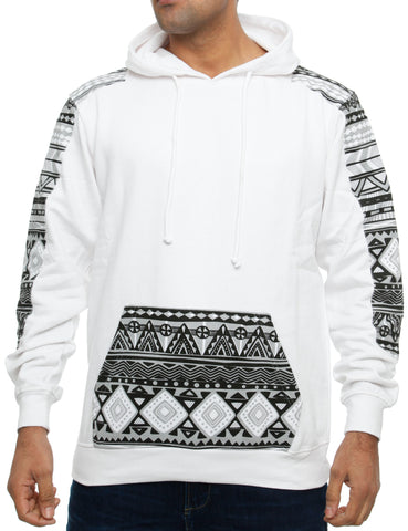 Imperious ´Aztec´ Hoody HS29 White