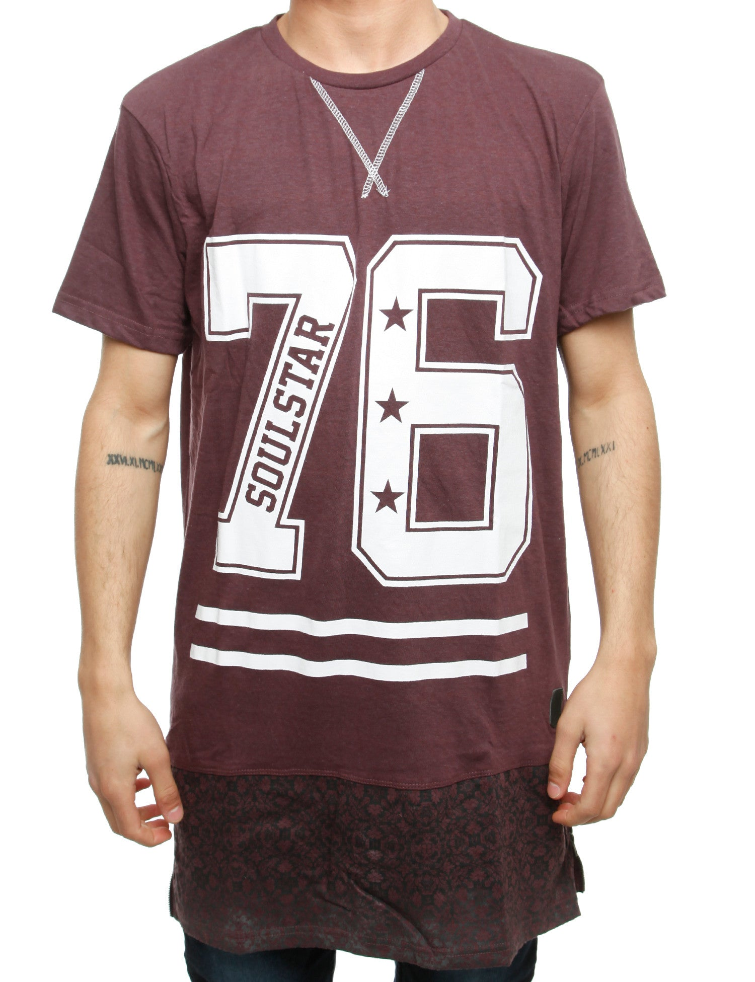 Soul Star Mt Canvy T-Shirt Burgundy Red