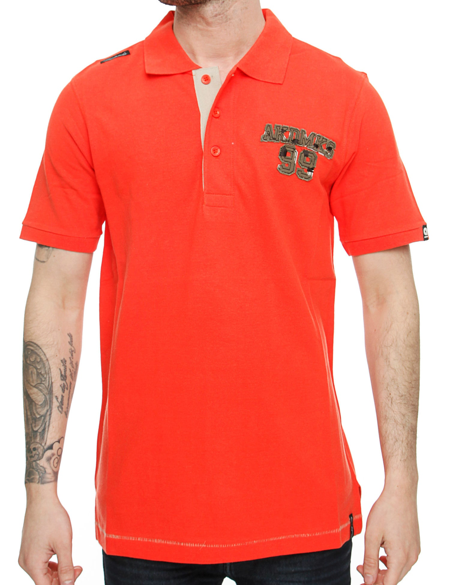 Akademiks Polo Shirts V55S138 Orange