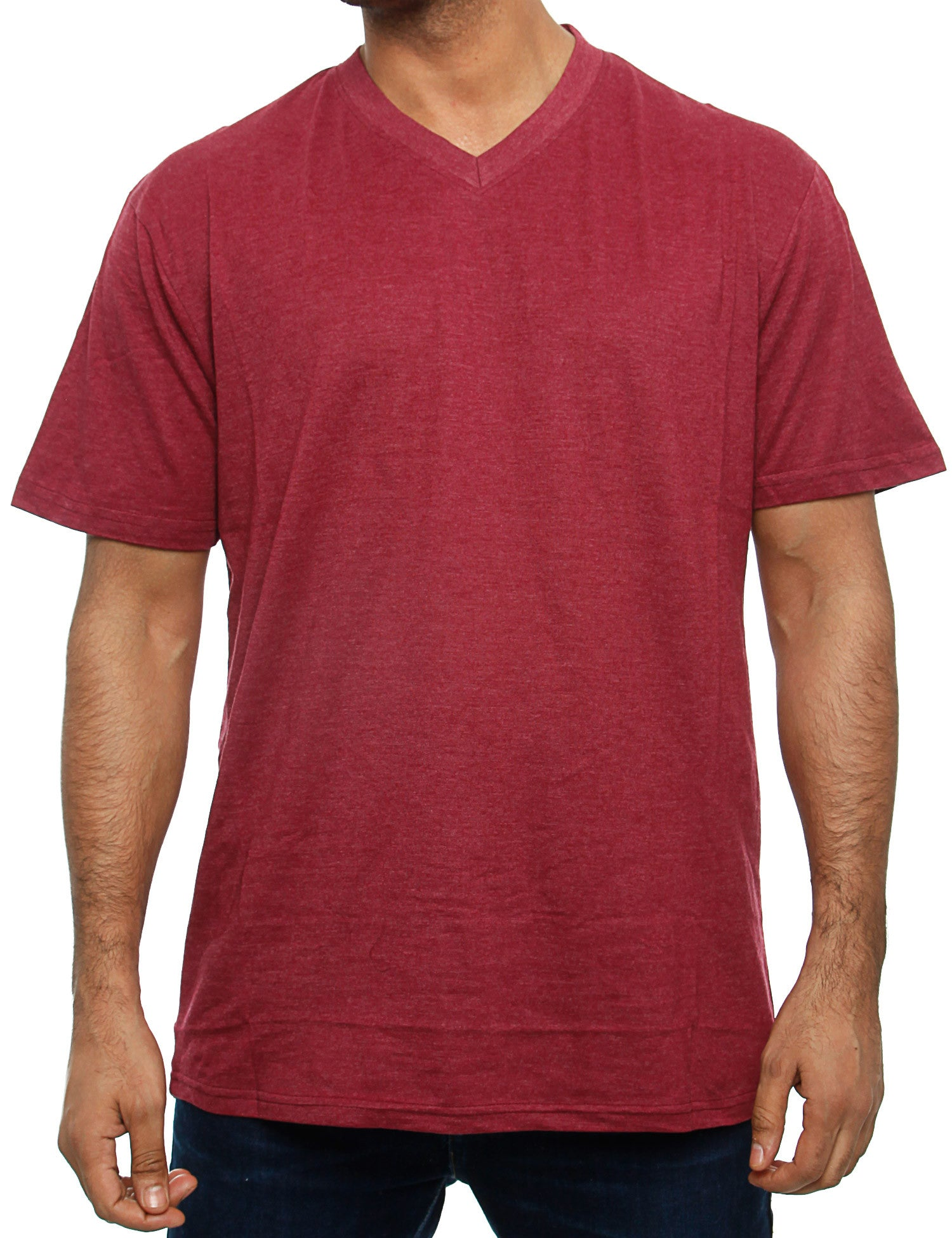 Southpole T-Shirt 14391-1401 Heather Burgundy Red