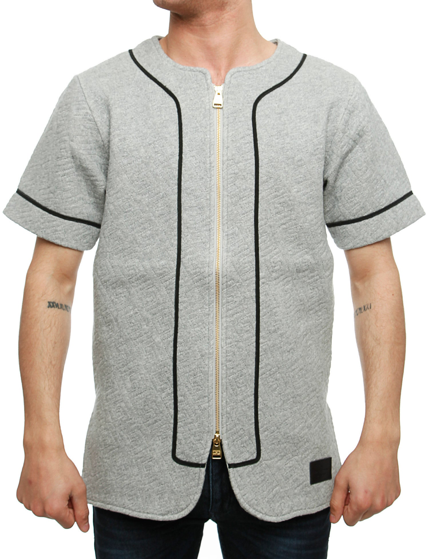Crooks  Castles Grandiose Baseball Jersey I1570101 Speckle Grey