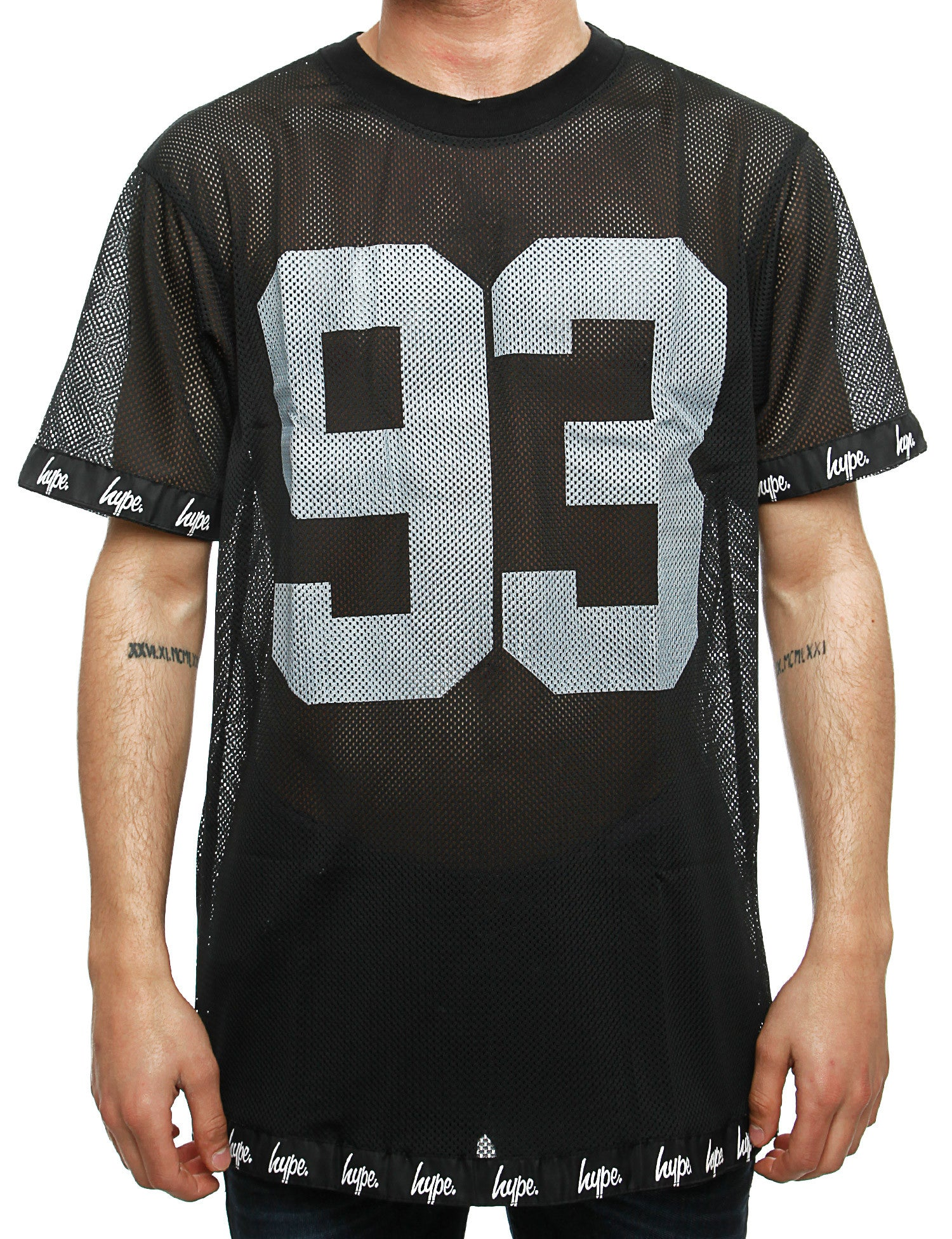 Hype 93 Mesh Oversized T-Shirt SP15TEE53 Black