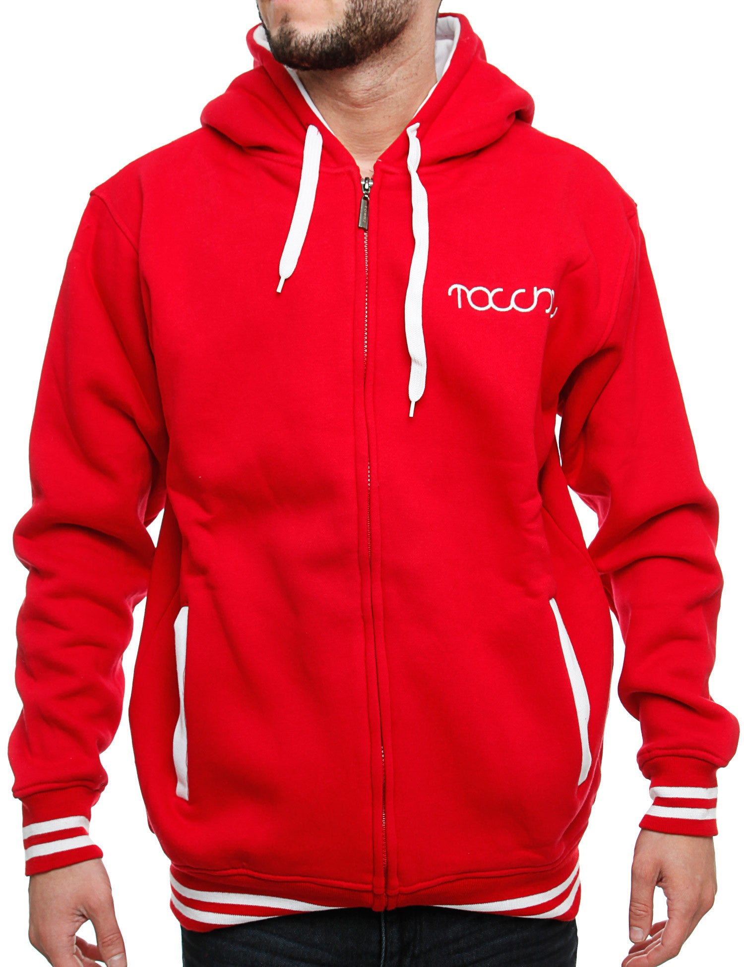 Townz Zip Hoody RWD-151B Red
