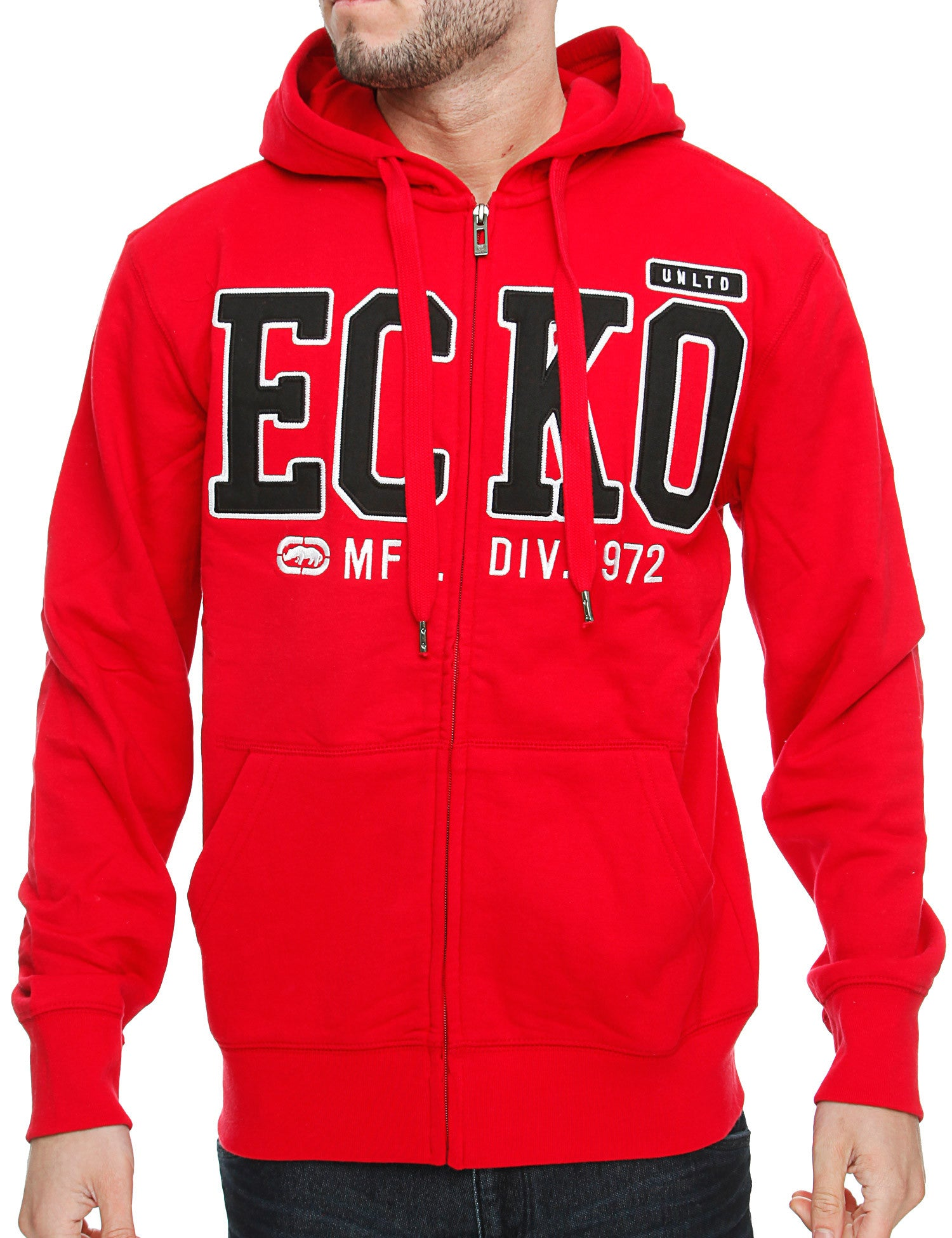 Image of Ecko Big Brand Zip Hoody E7P03958 True Ecko Red
