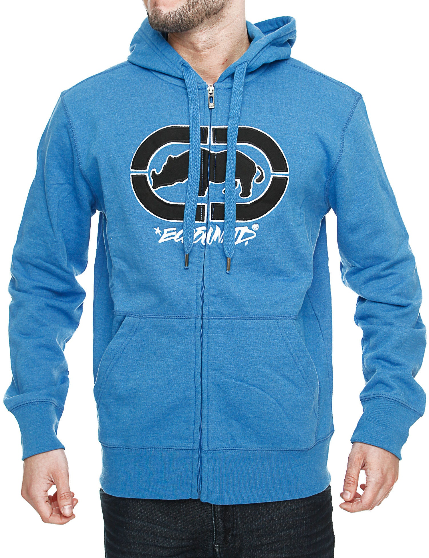 Image of Ecko Cross Country Zip Hoody E7P03959 Azure Blue