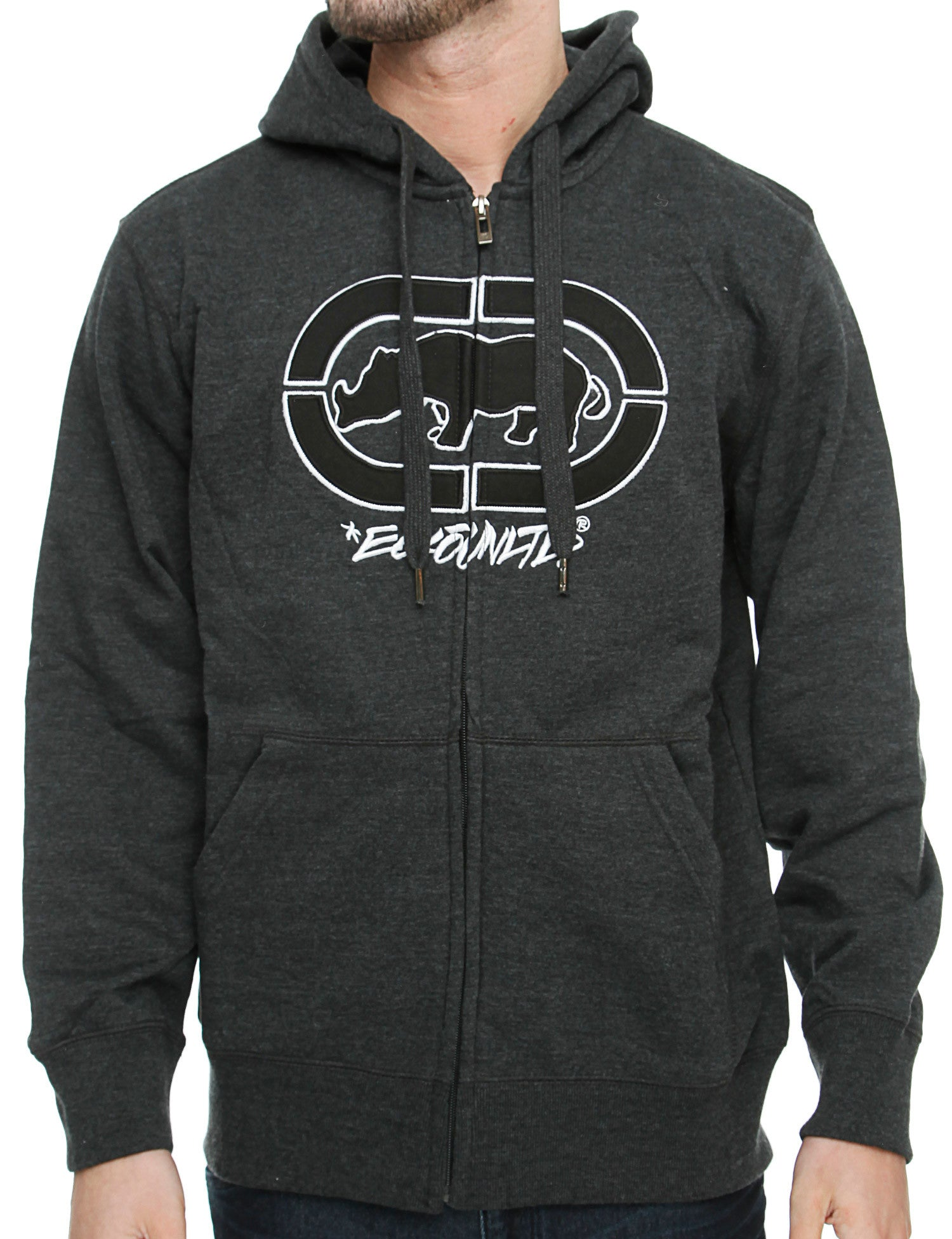 Image of Ecko Cross Country Zip Hoody E7P03959 Black