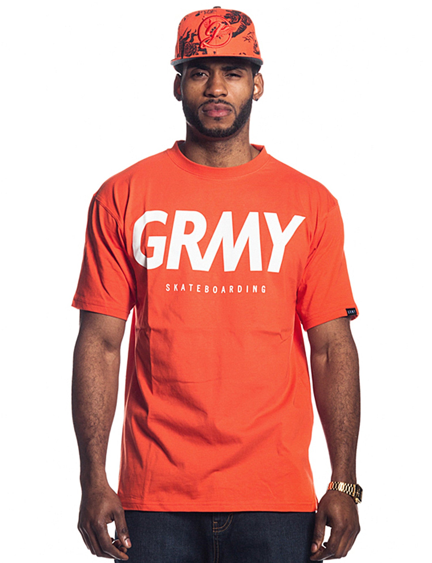 Grimey SK8 HUNTER T-Shirt GA399 Red