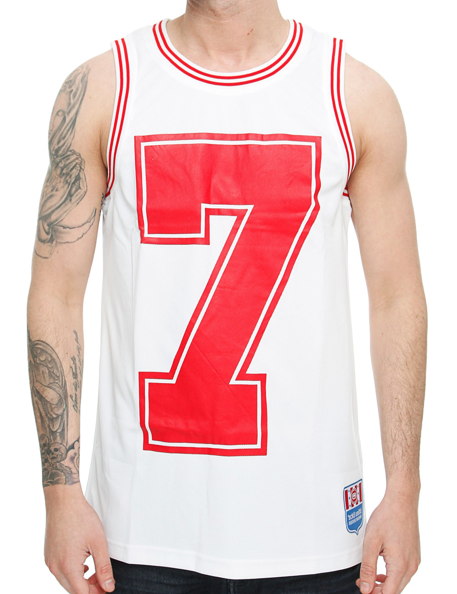 Image of Ecko Loritz Basketball Tank Top ESK03210 Optic White
