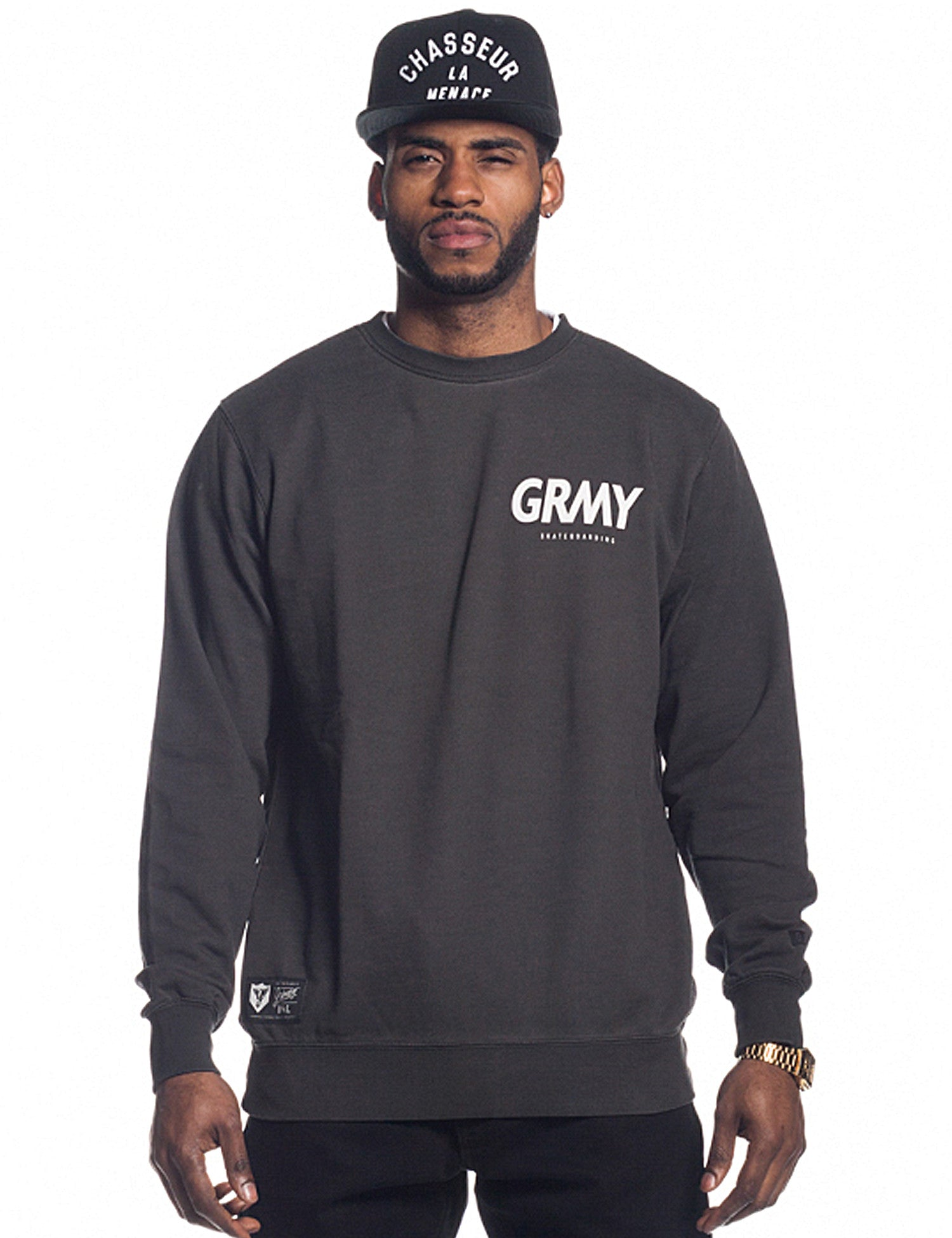 Grimey Hunter GRMY Crewneck GSW212 Black