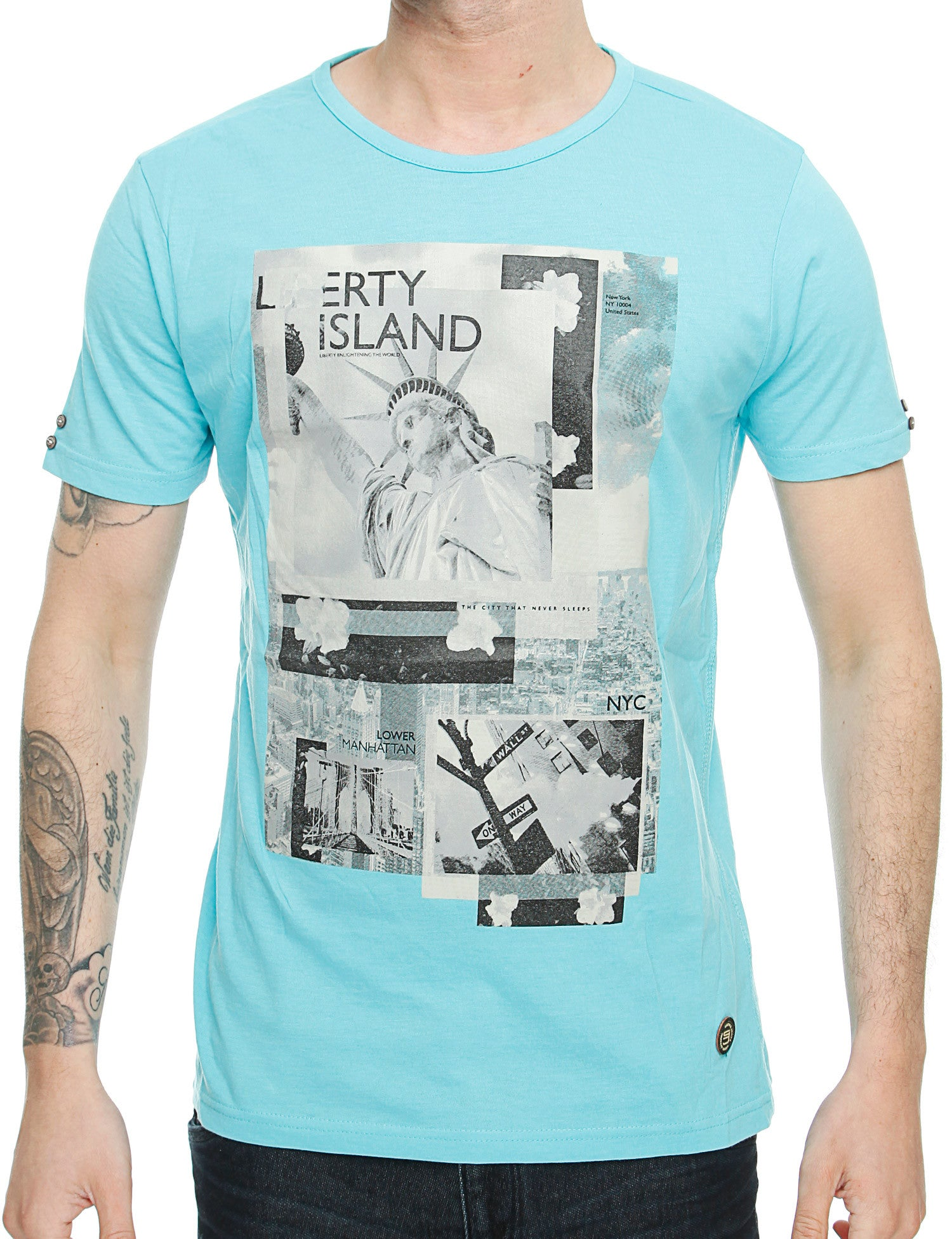 Smith  Jones Chertsay T-Shirt SJ2A108464 Capi Marl Turquoise