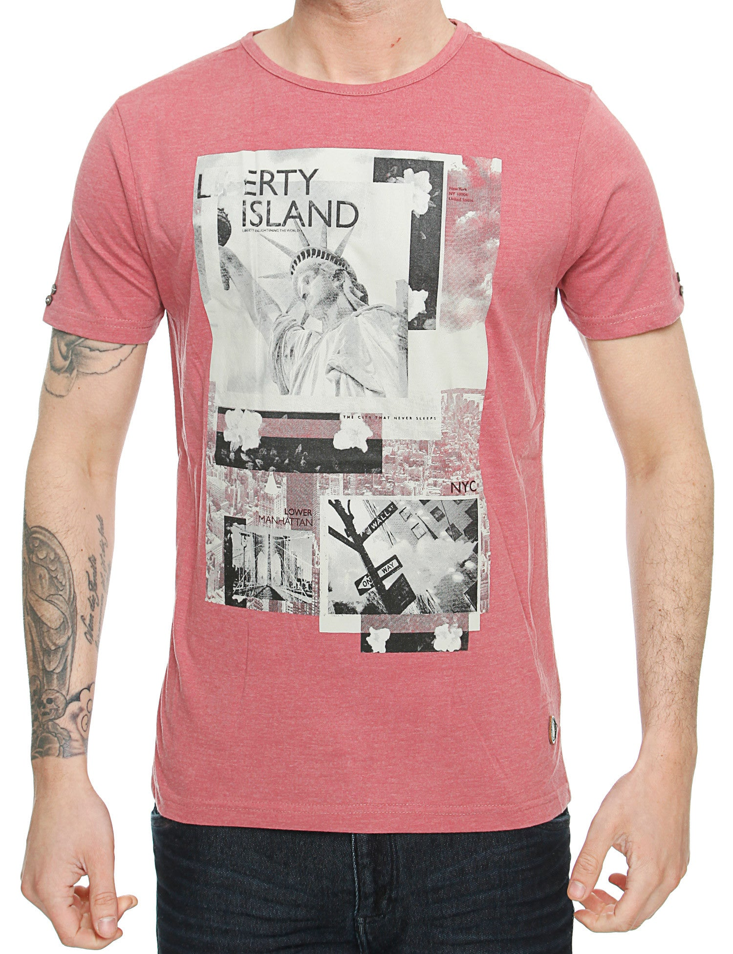 Smith  Jones Chertsay T-Shirt SJ2A108464 Deco Rose Red