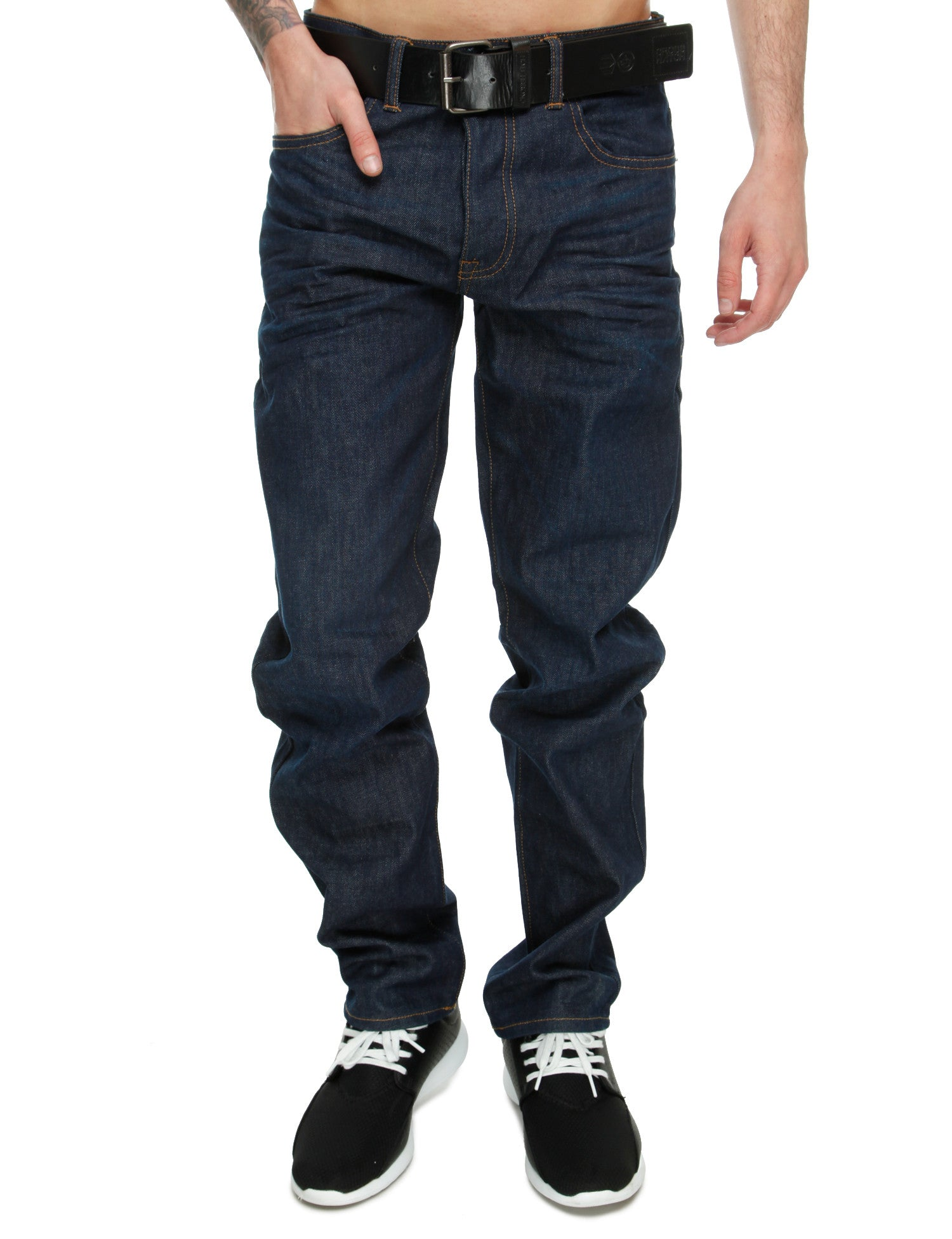 Crosshatch Hitchen Jeans Straight Fit CH109157 Raw Wash Blue