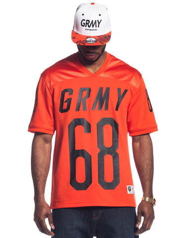 Grimey Chasseur Football Jersey GFJ102 Orange Red