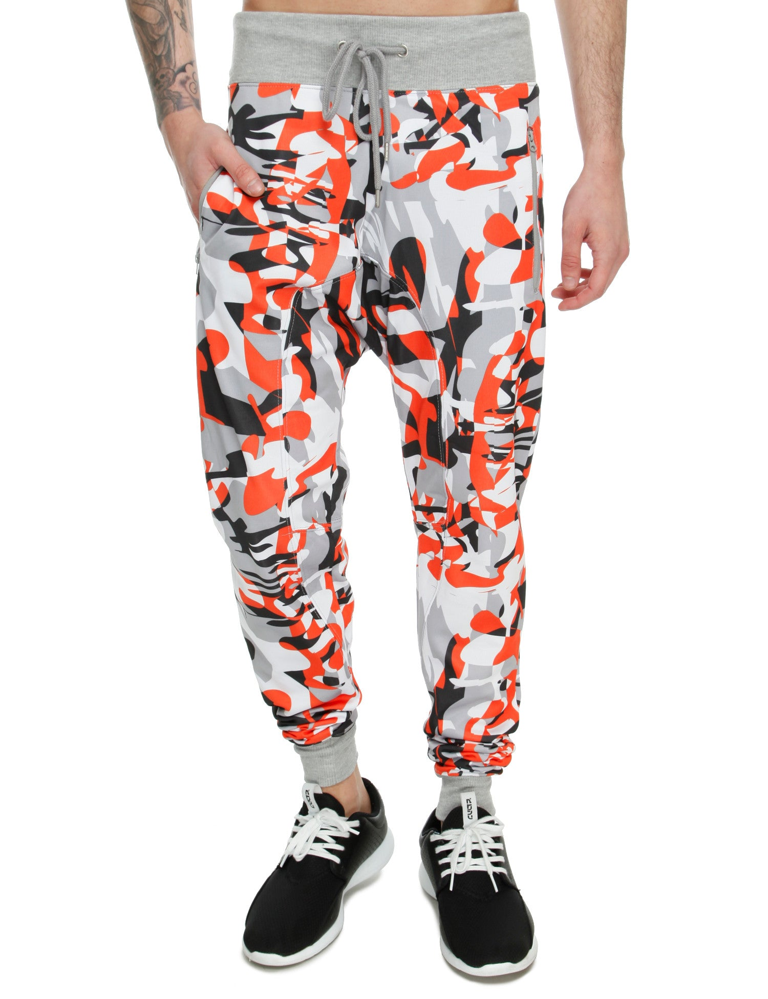 Royal Blue Print Sweatpant 27020P Orange