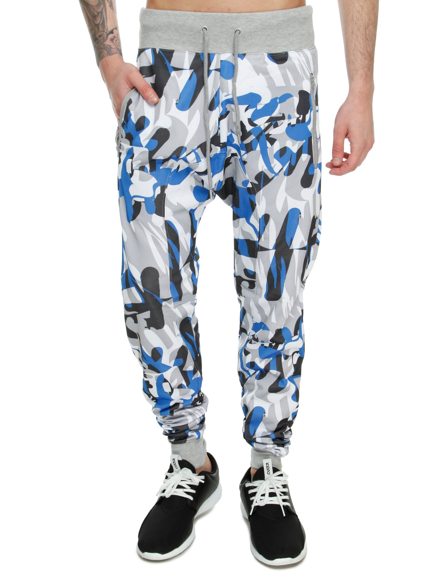 Royal Blue Print Sweatpant 27020P Blue