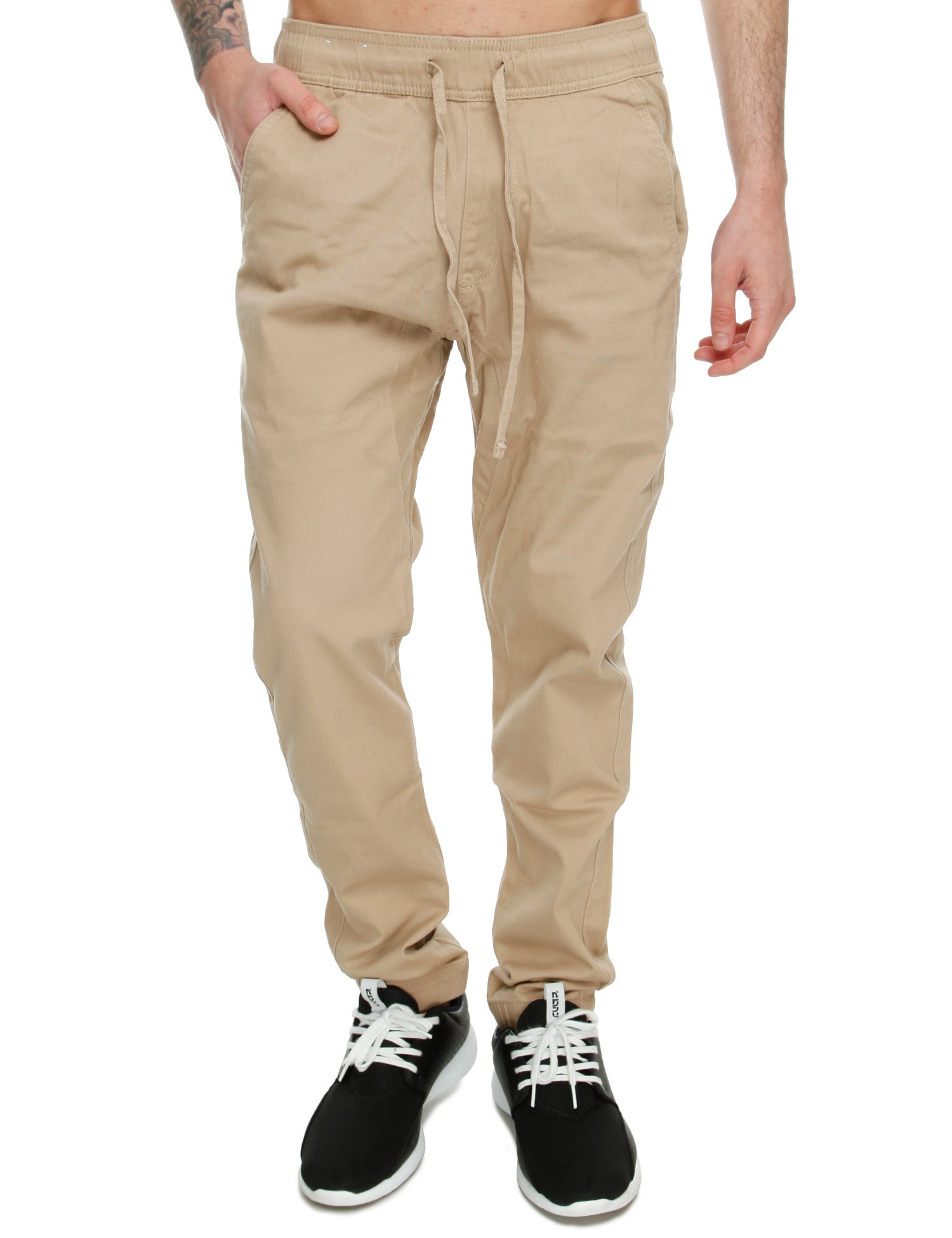 Royal Blue Jog Pants W4JG1009 Khaki Beige