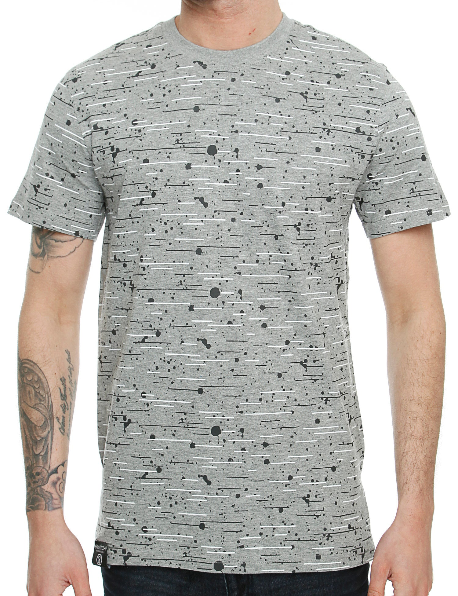 Switch Textur Print T-Shirt SS6016 Grey