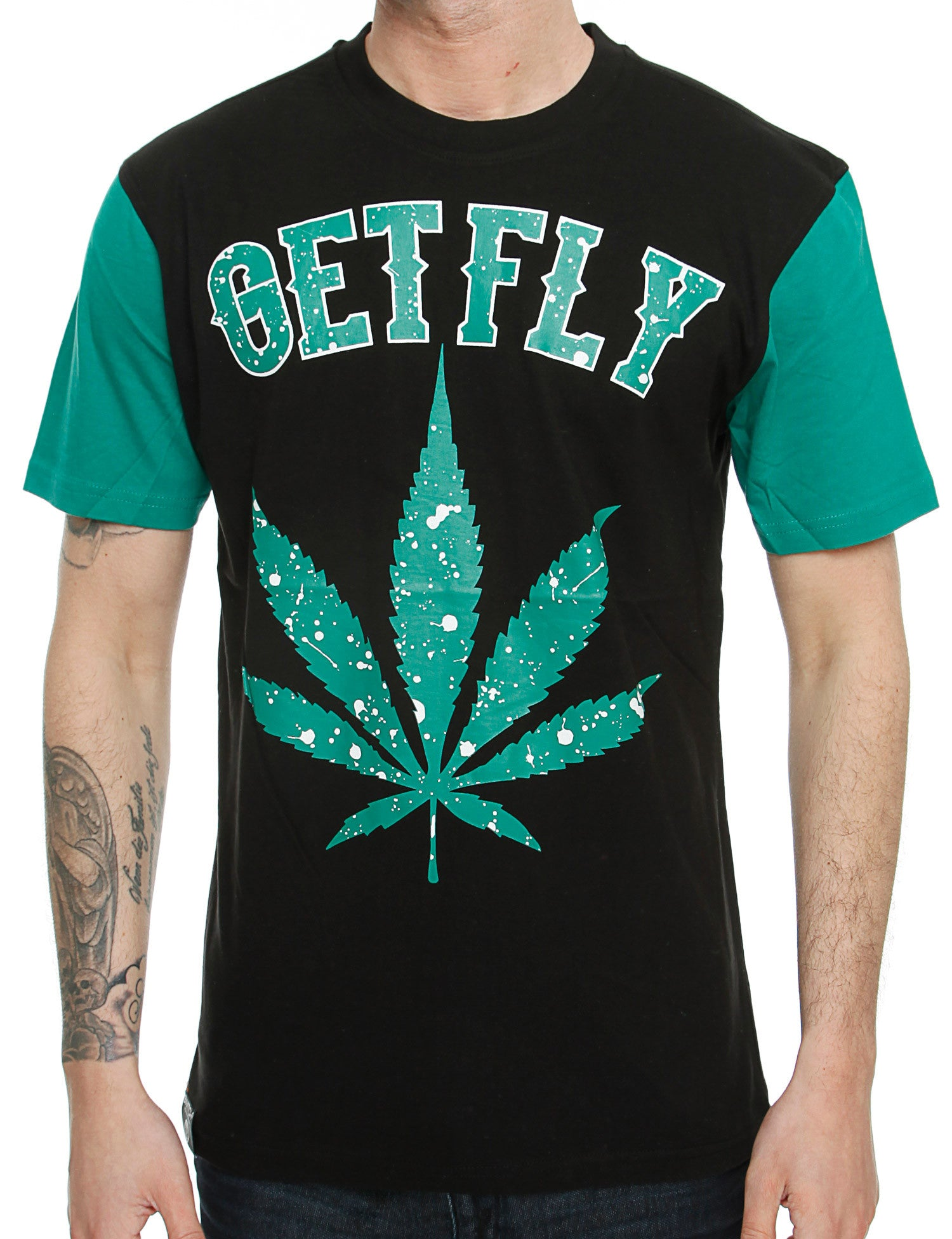 Switch Kush Print T-Shirt SS6037 Green