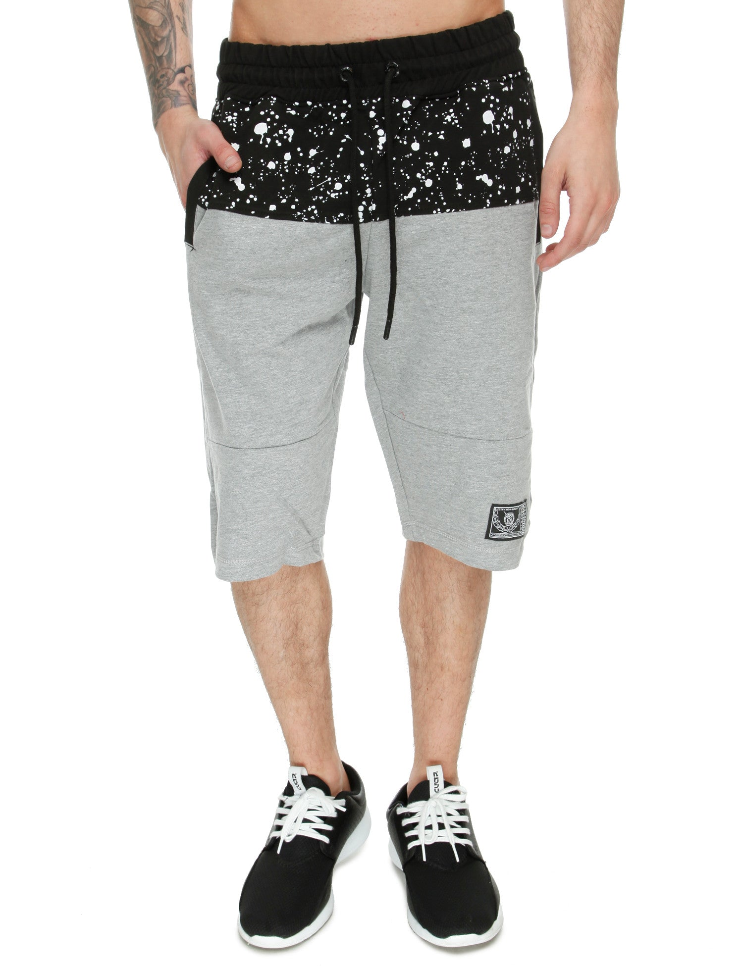 Switch Paint Splatter Shorts SS6421 Heather Grey Black