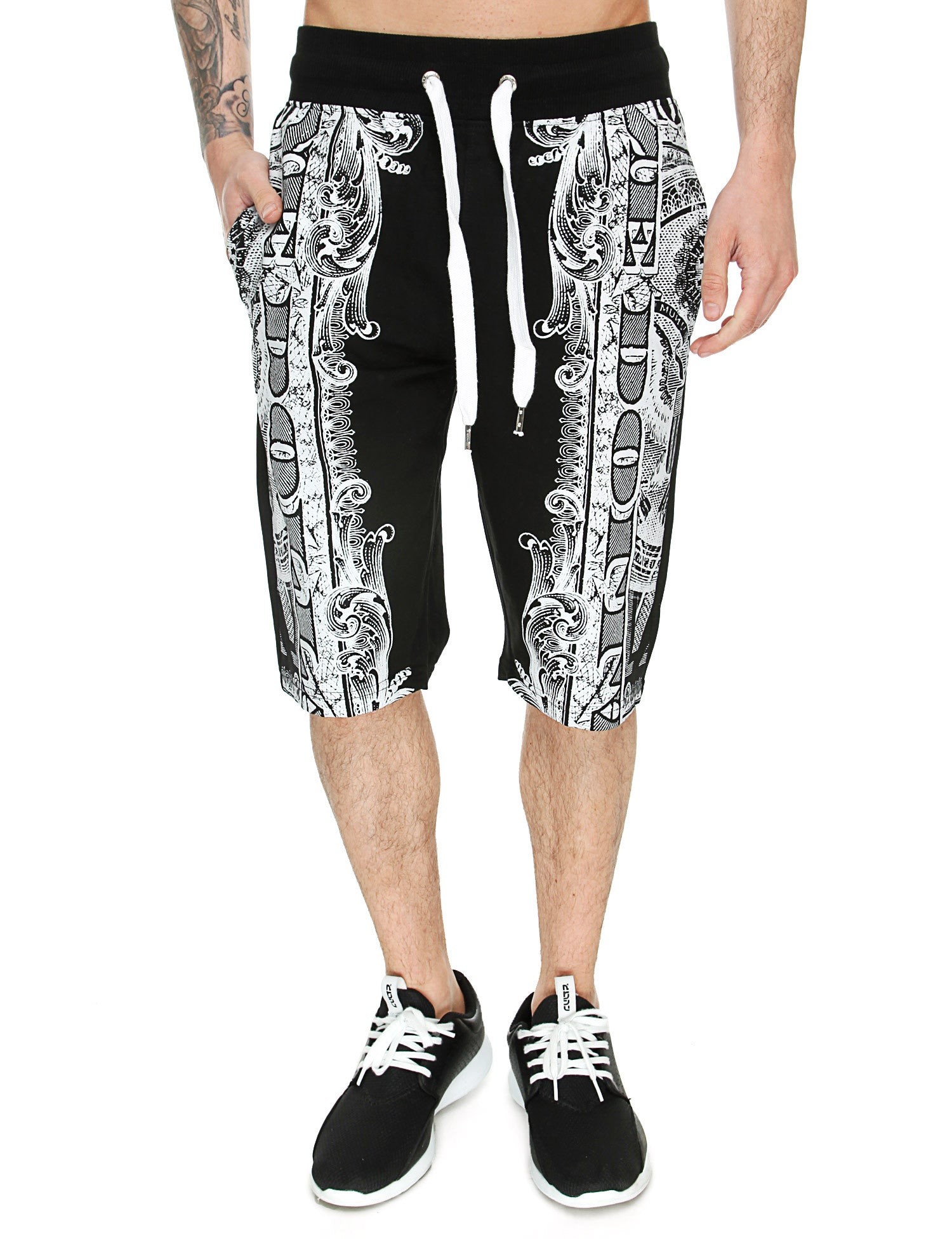 Switch Money Print Shorts SS6440 Black