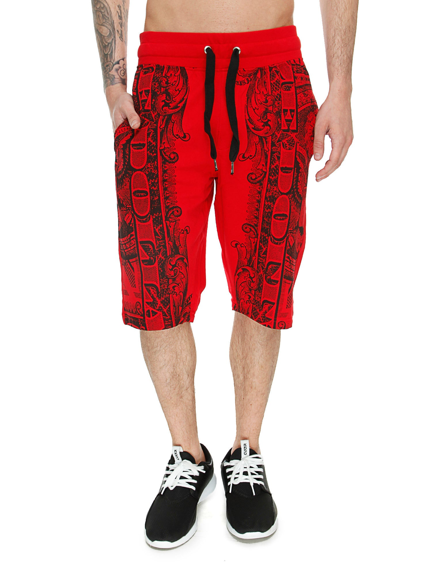 Switch Money Print Shorts SS6440 Red