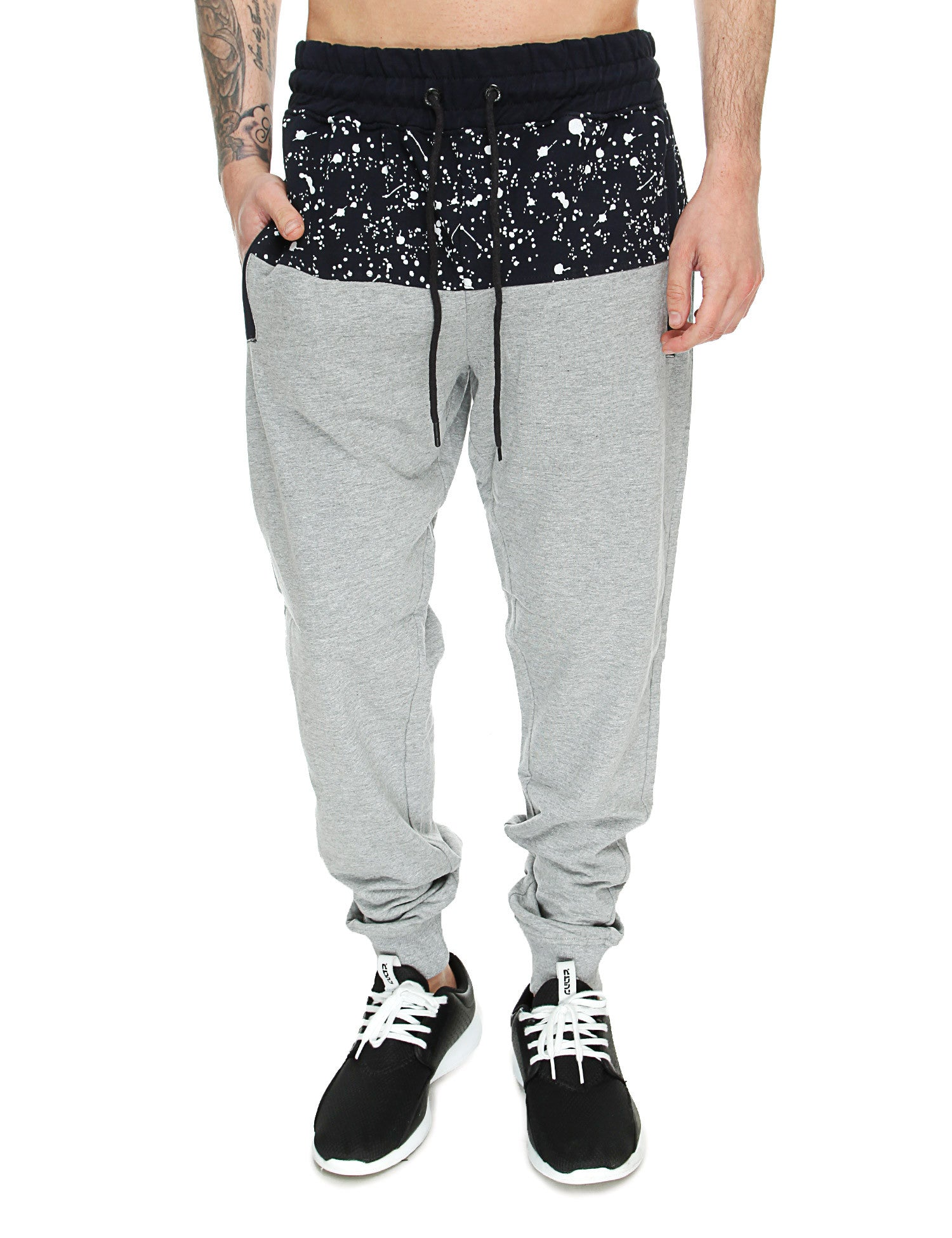 Switch Paint Splatter Sweatpant SS6471 Heather Grey Navy