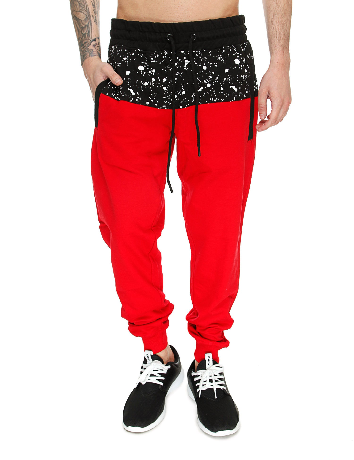 Switch Paint Splatter Sweatpant SS6471 Red Red