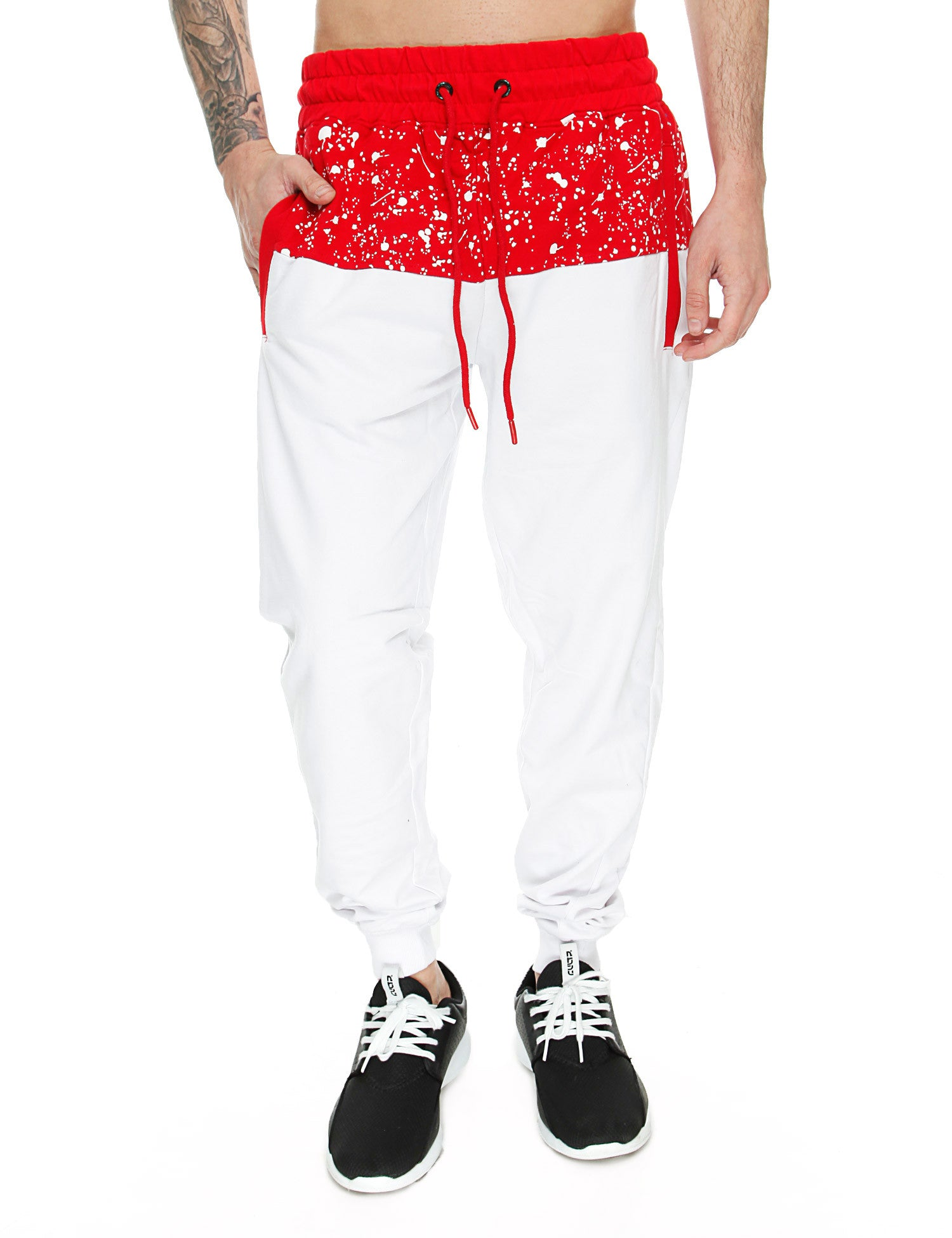 Switch Paint Splatter Sweatpant SS6471 White Red