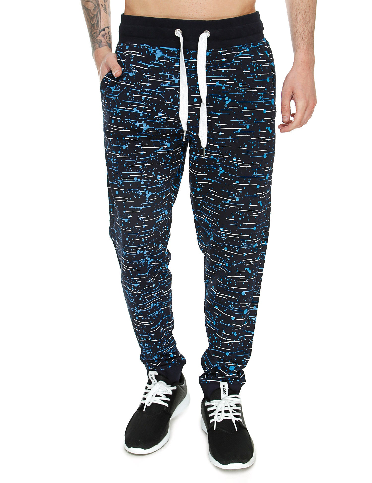 Switch Textur Print Sweatpant SS6472 Navy
