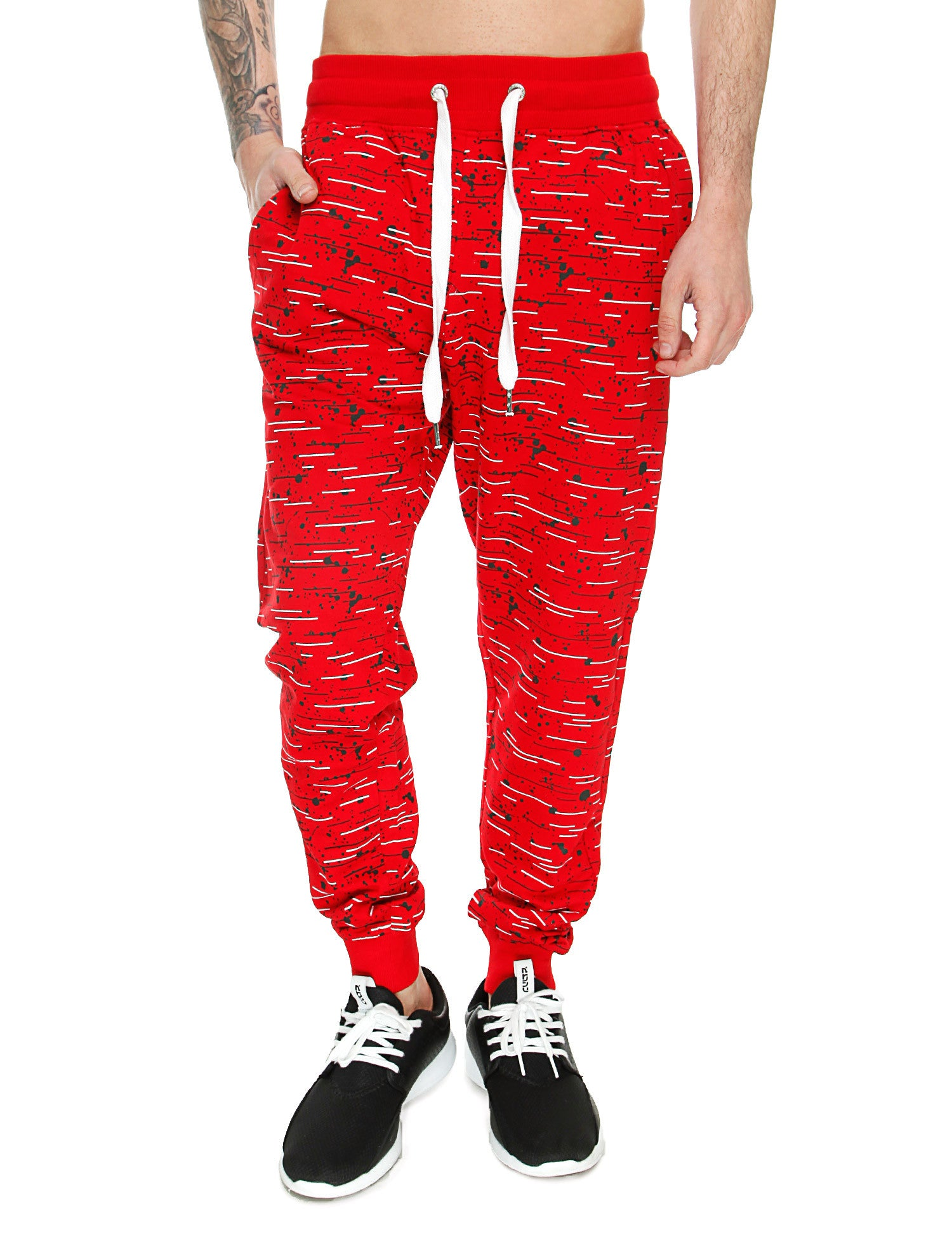 Switch Textur Print Sweatpant SS6472 Red