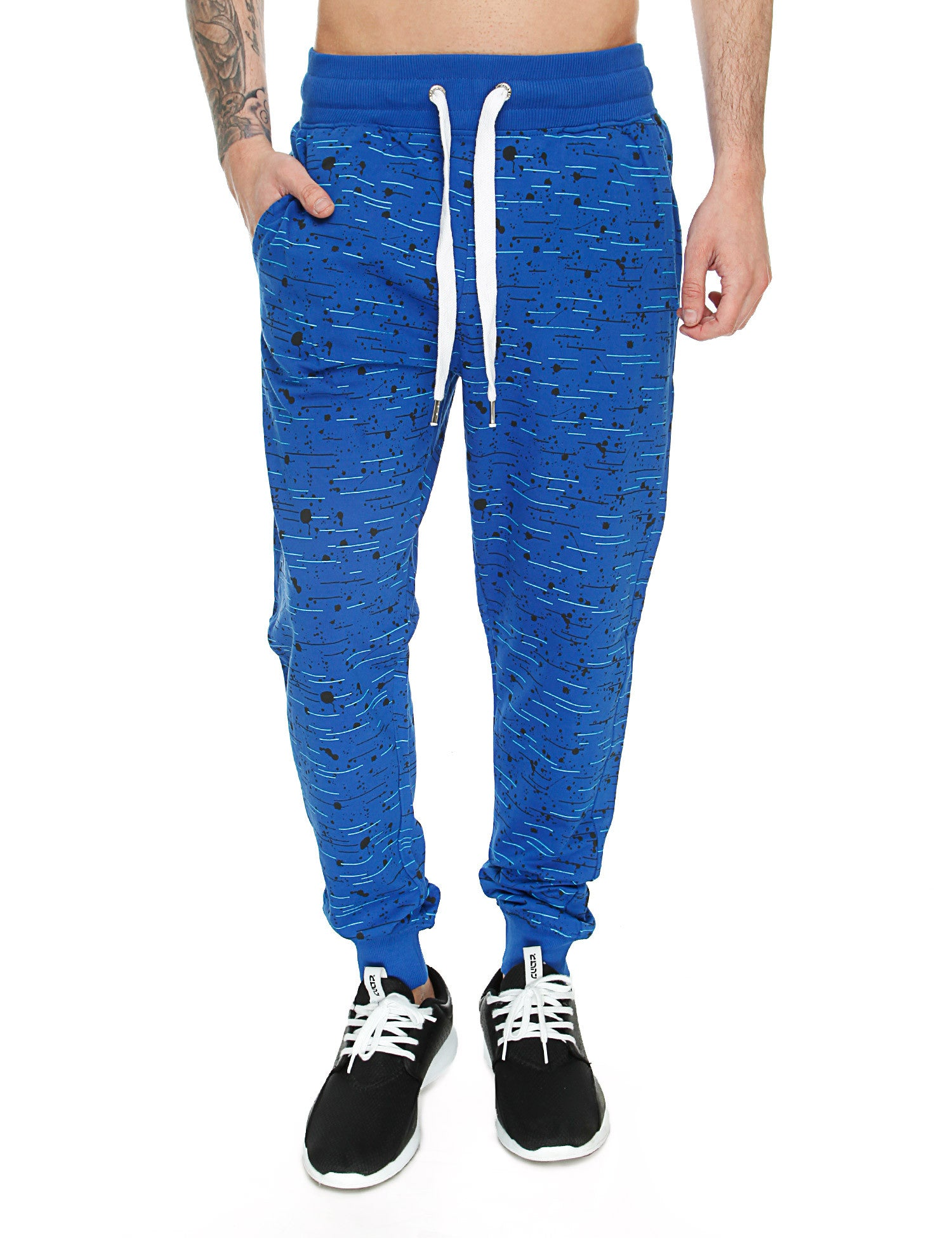 Switch Textur Print Sweatpant SS6472 Royal Blue