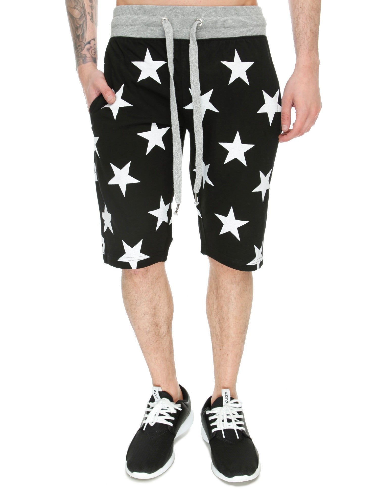 Switch Star Print Shorts SS6482 Black
