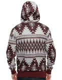 Switch Aztec Print Zip Hoody SF5220 Red