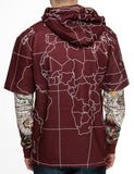Switch Globe Print Zip Hoody SF5252 Red
