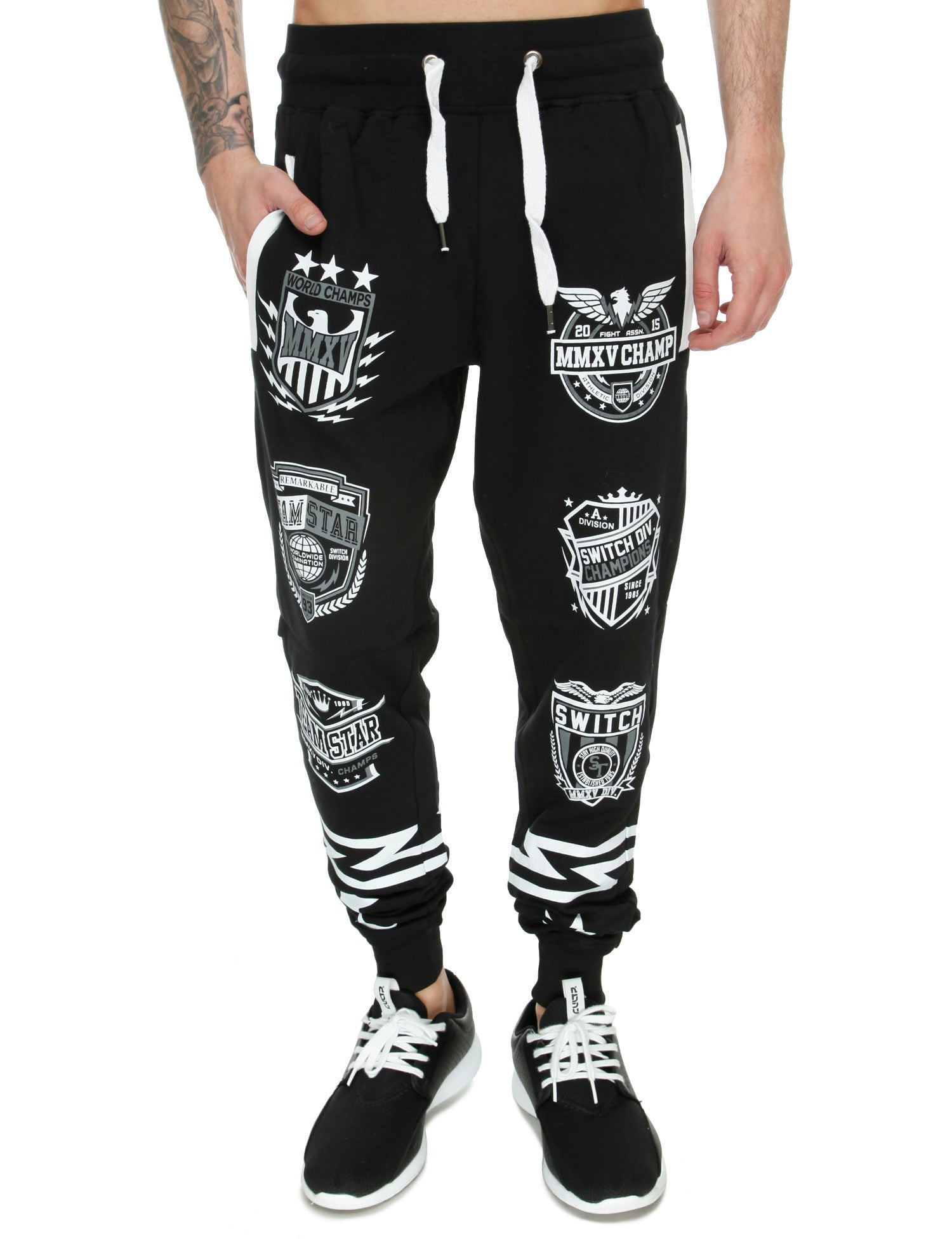 Switch Varsity Patch Sweatpant SF5420 Black