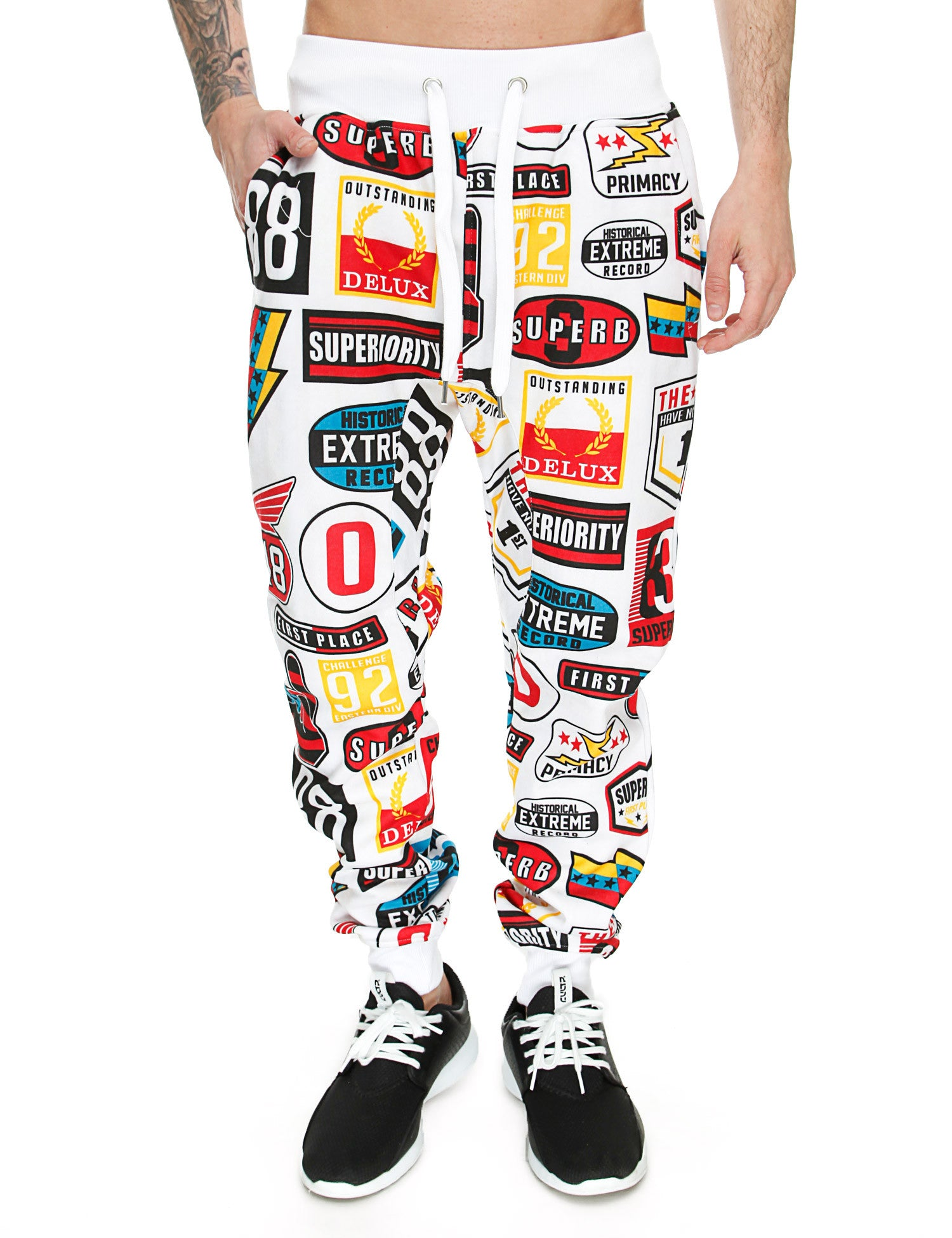 Switch Sublimation Print Sweatpant SF5446 White