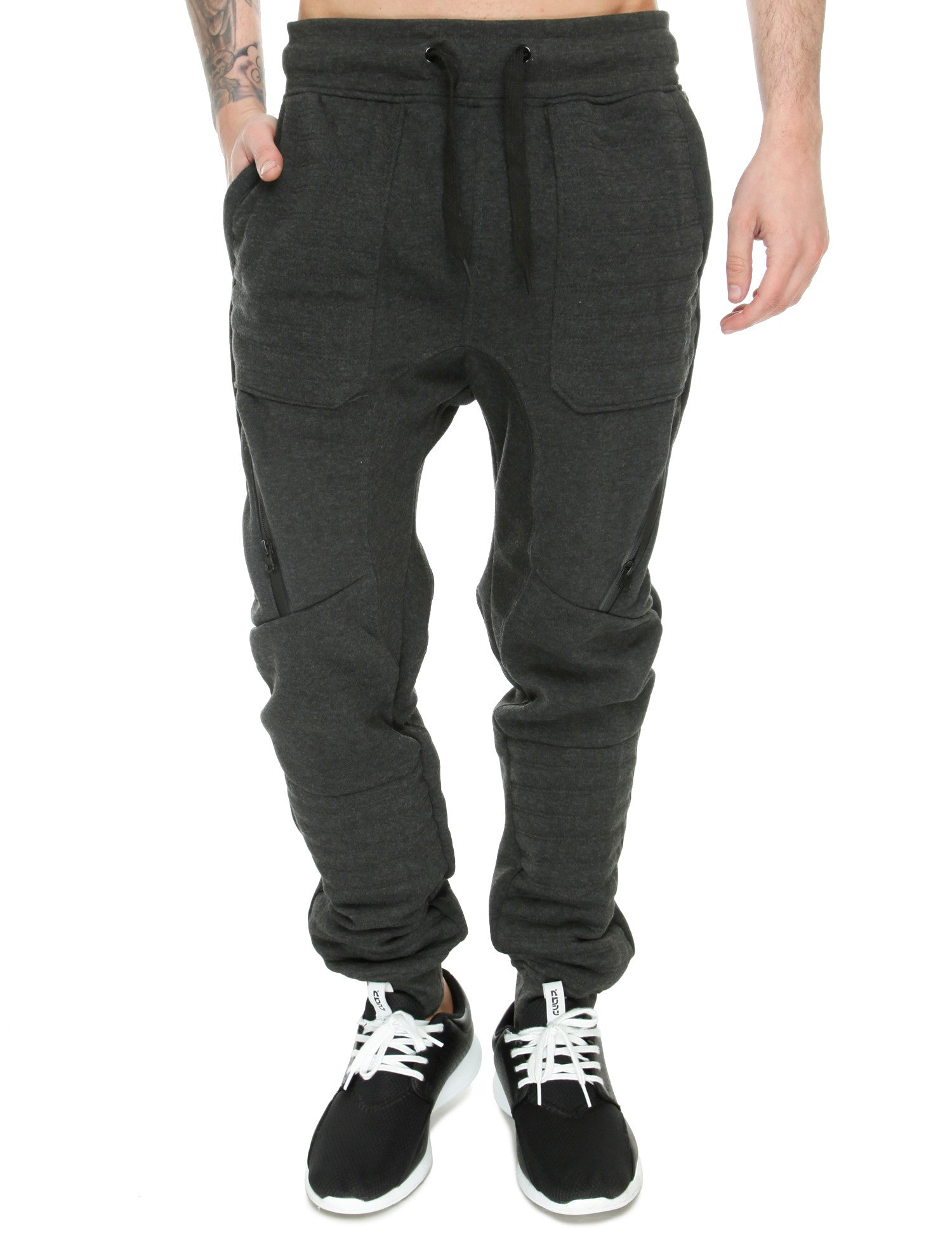 Switch Drop Crotch Sweatpant SF5455 Charcoal Grey