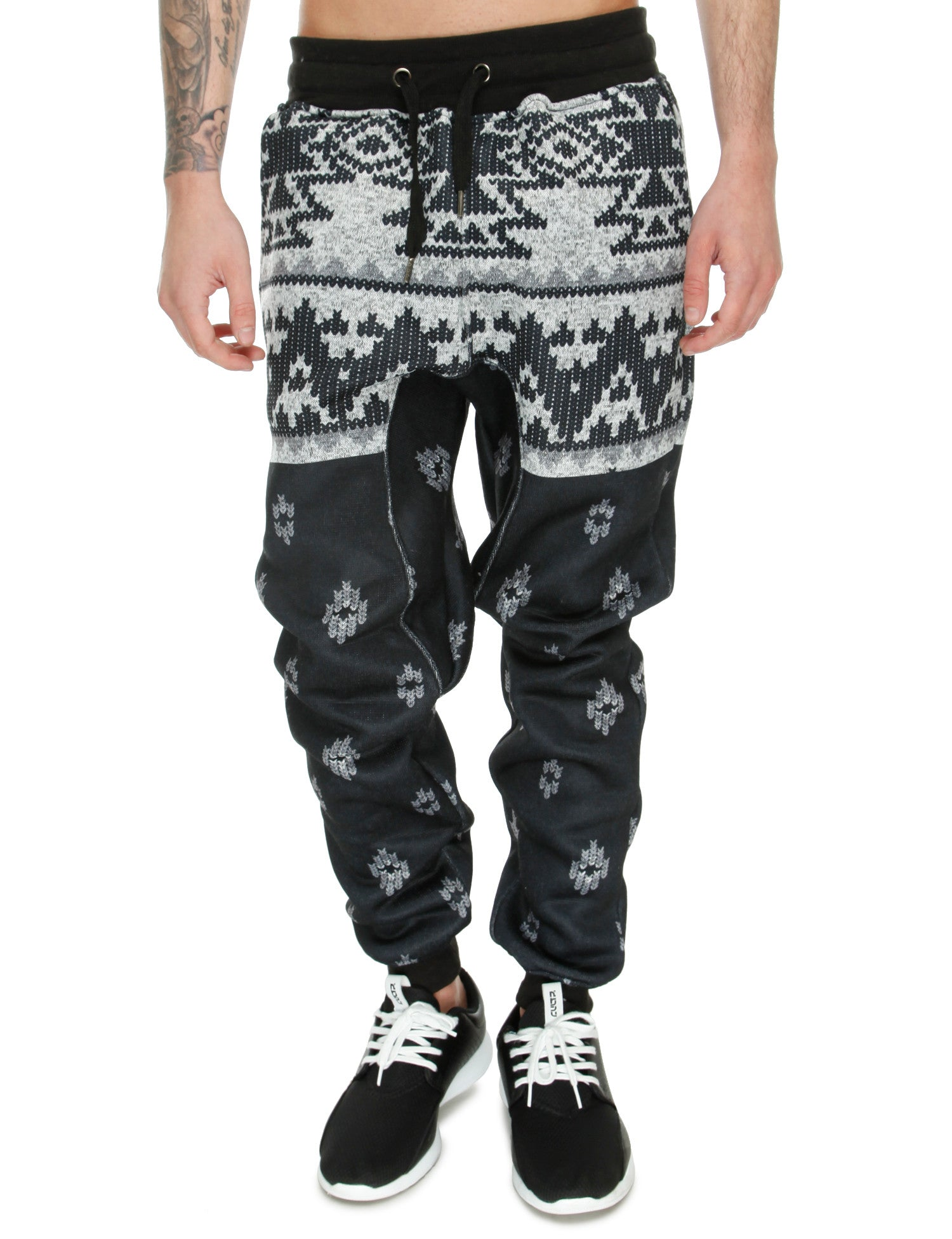 Switch Aztec Print Sweatpant SF5469 Black