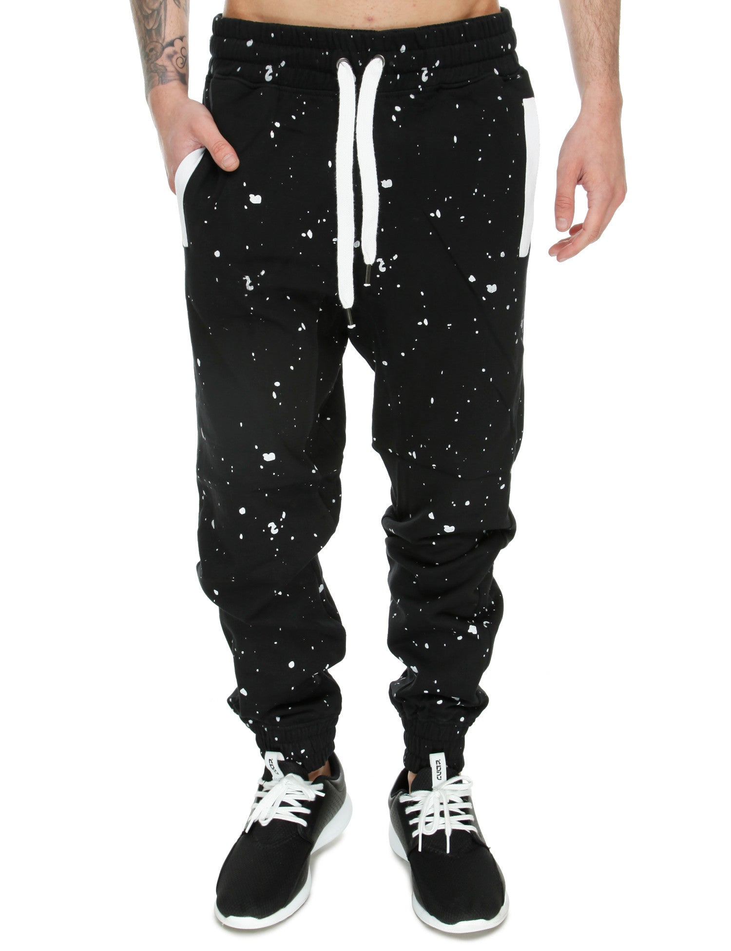 Switch Allover Money Print Sweatpant SF5487 Black