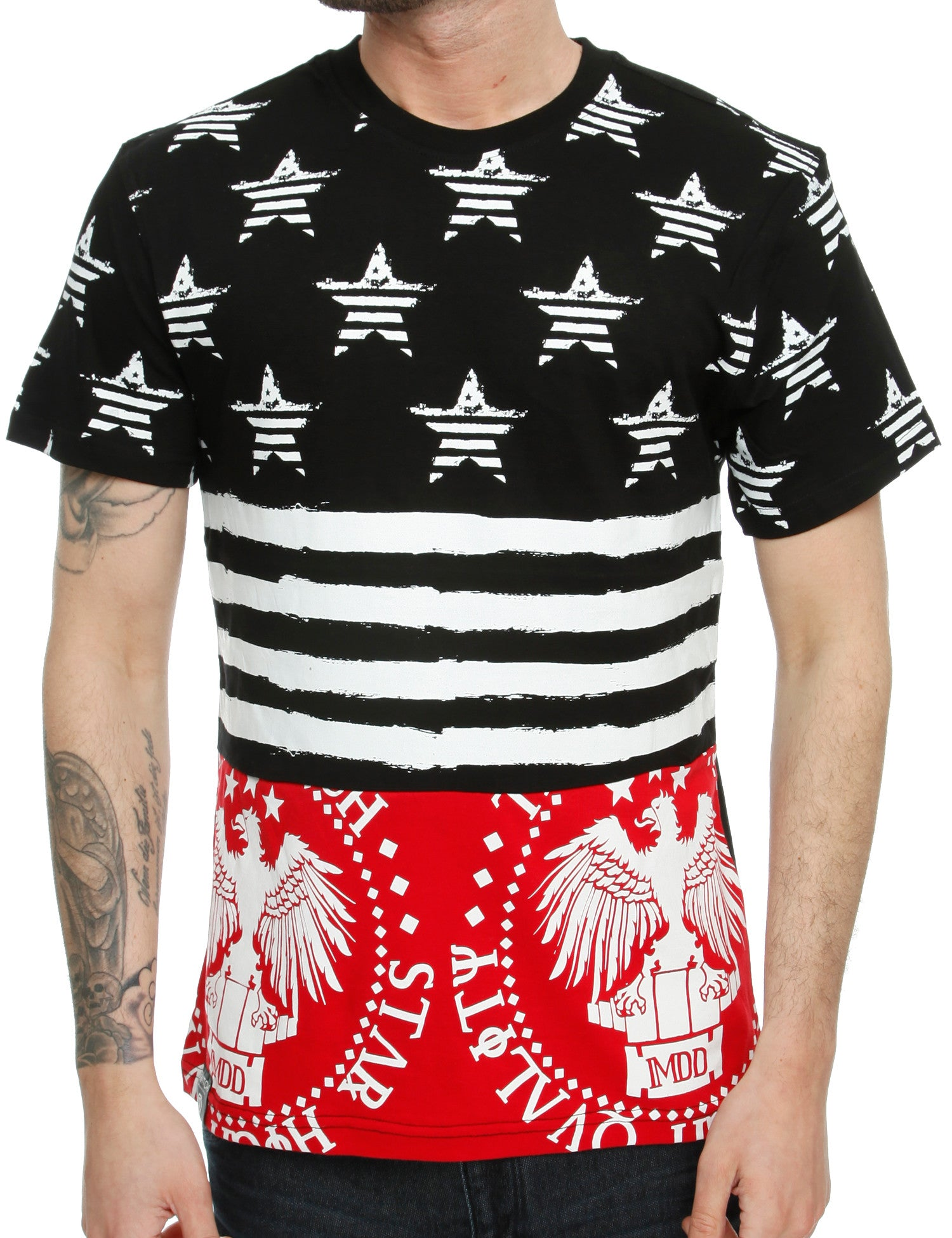 Switch Star  Stripe T-Shirt SS6041 Red